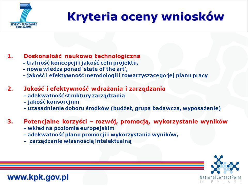 Kryteria oceny wniosków