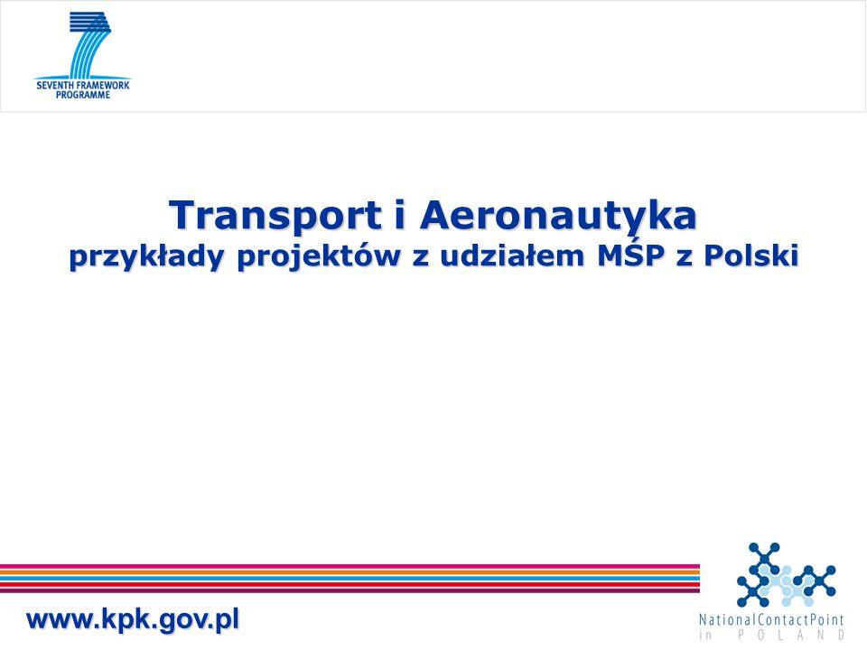 Transport i Aeronautyka przykłady projektów z udziałem MŚP z Polski