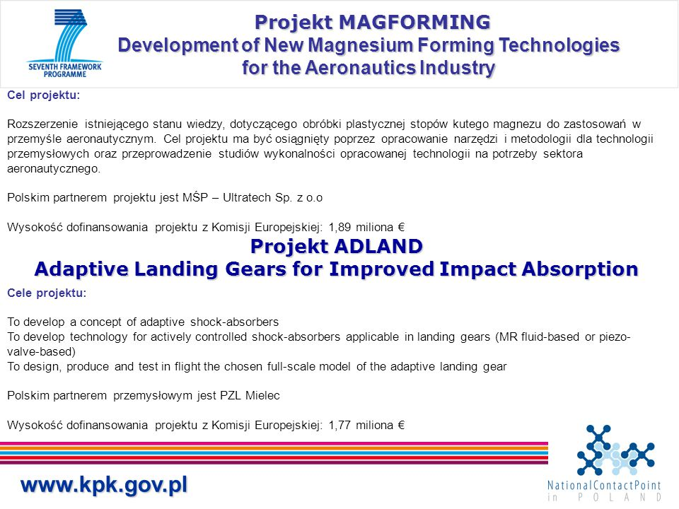 Projekt ADLAND Adaptive Landing Gears for Improved Impact Absorption