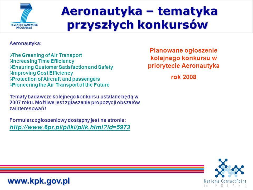 Aeronautyka – tematyka przyszłych konkursów