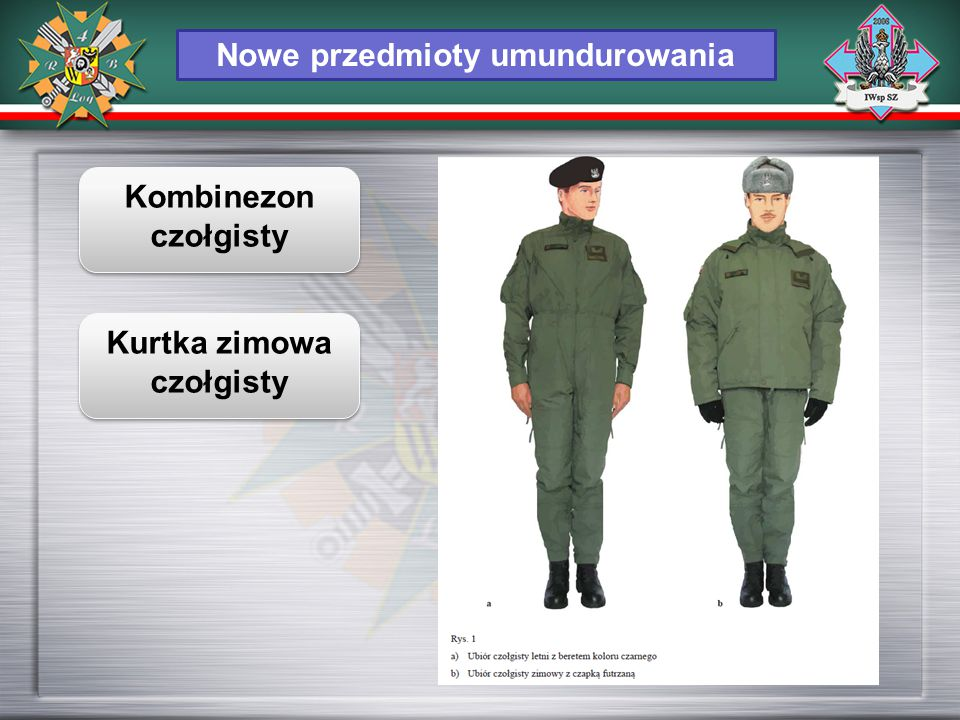 Nowe przedmioty umundurowania Kurtka zimowa czołgisty