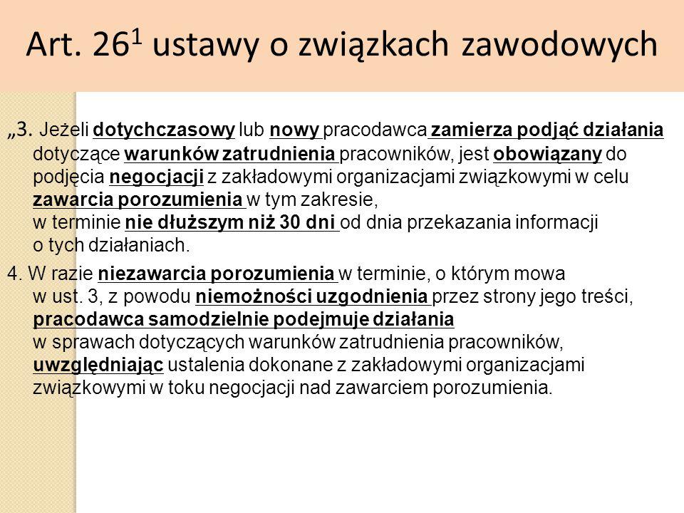 Art. 261 ustawy o związkach zawodowych