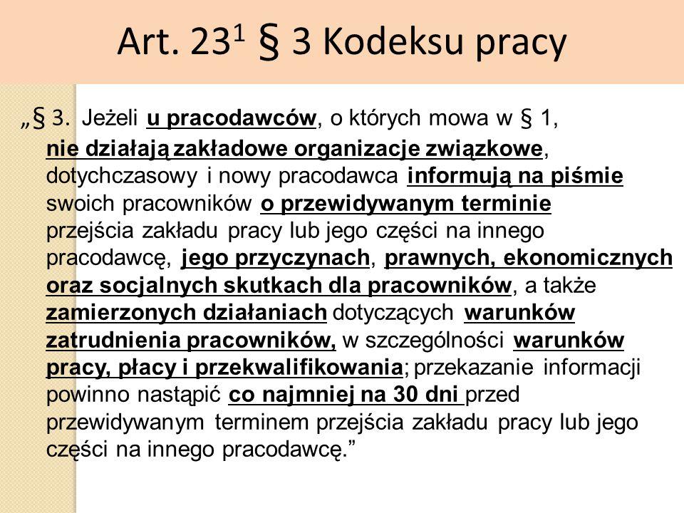Art. 231 § 3 Kodeksu pracy