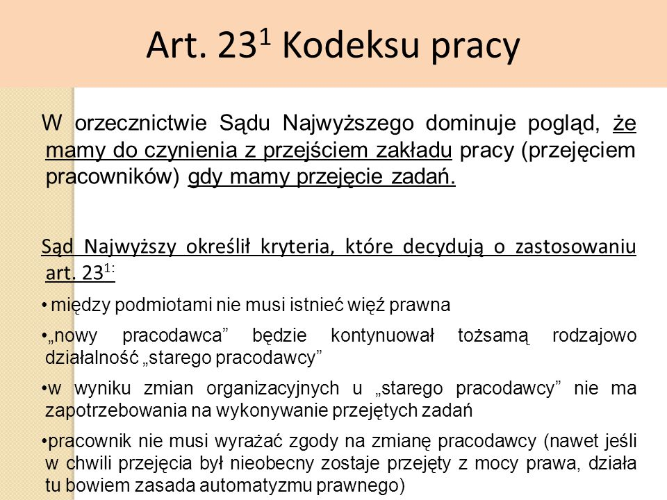 Art. 231 Kodeksu pracy