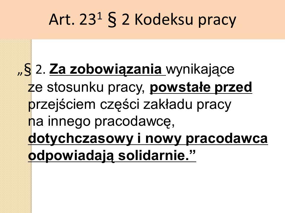 Art. 231 § 2 Kodeksu pracy
