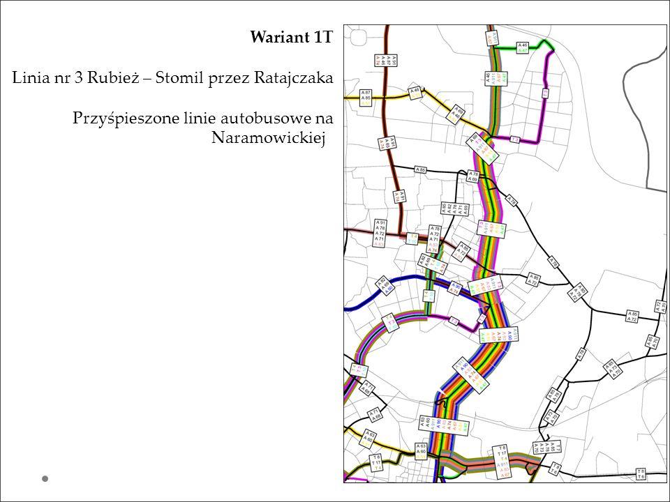 Wariant 1T Linia nr 3 Rubież – Stomil przez Ratajczaka.