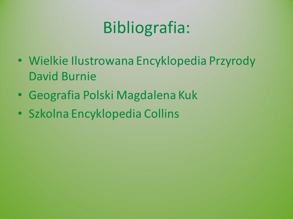 Bibliografia: Wielkie Ilustrowana Encyklopedia Przyrody David Burnie