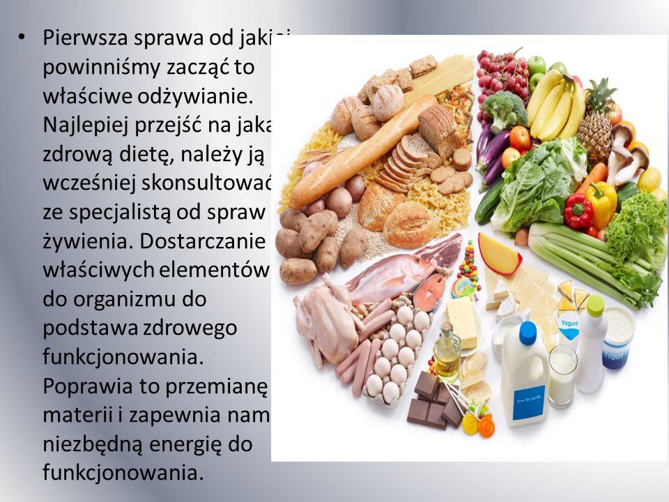 Pierwsza sprawa od jakiej powinniśmy zacząć to właściwe odżywianie