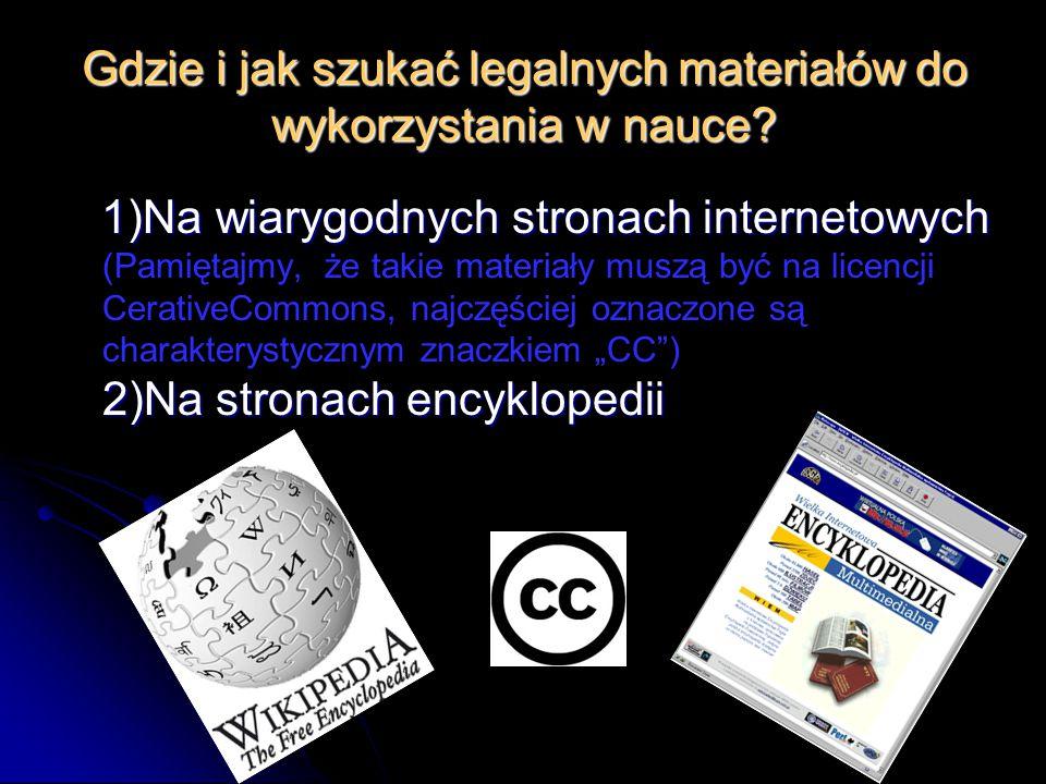 Gdzie i jak szukać legalnych materiałów do wykorzystania w nauce