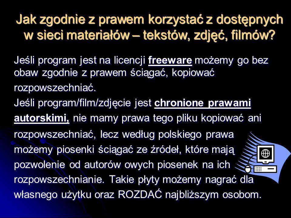 Jak zgodnie z prawem korzystać z dostępnych w sieci materiałów – tekstów, zdjęć, filmów