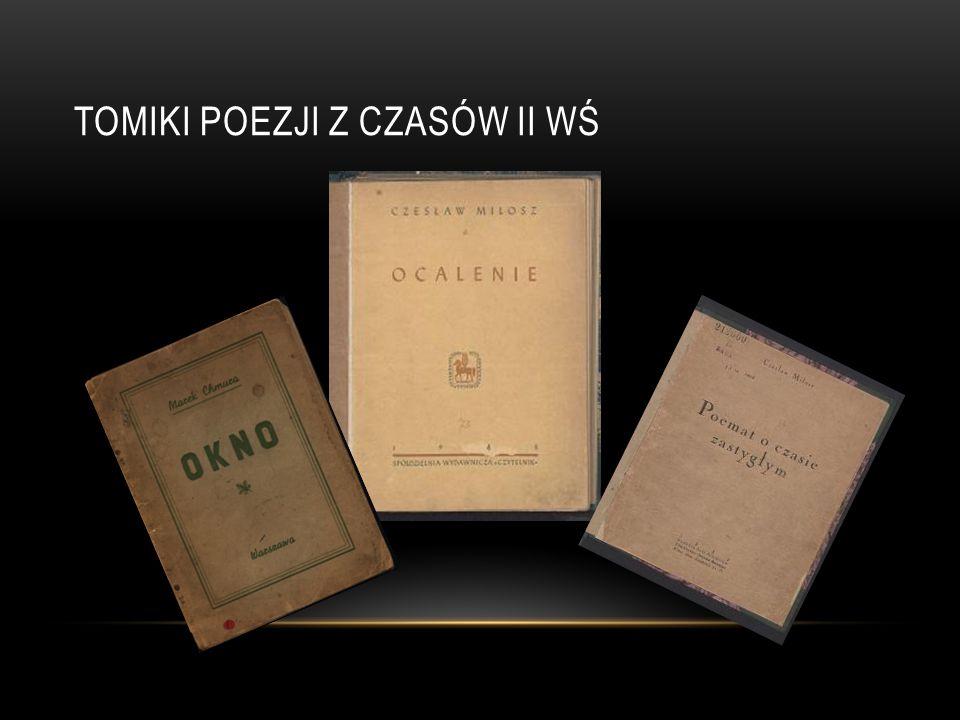 Tomiki poezji z czasów II WŚ