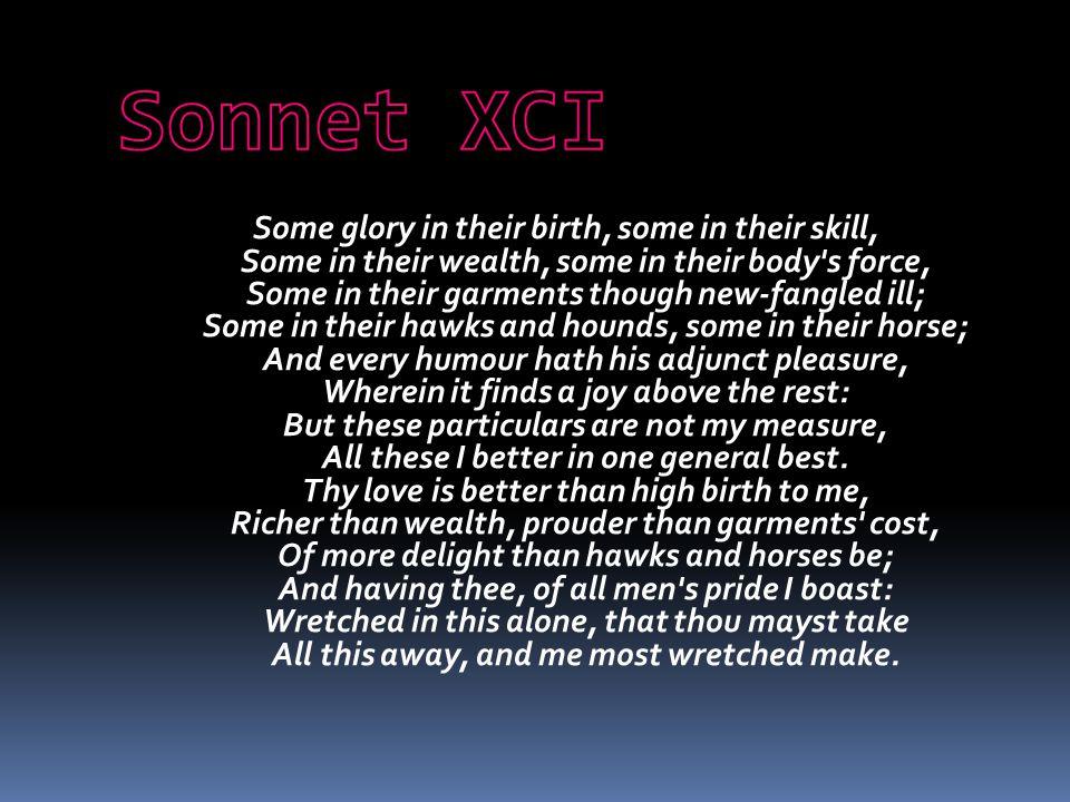 Sonnet XCI
