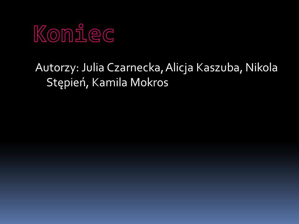 Koniec Autorzy: Julia Czarnecka, Alicja Kaszuba, Nikola Stępień, Kamila Mokros