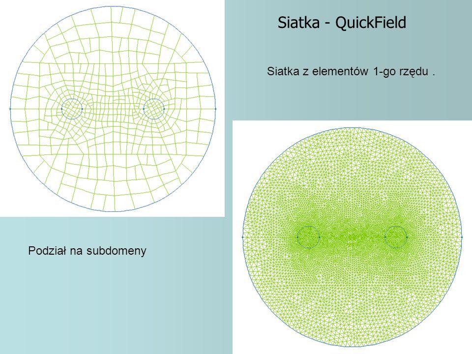 Siatka - QuickField Siatka z elementów 1-go rzędu .