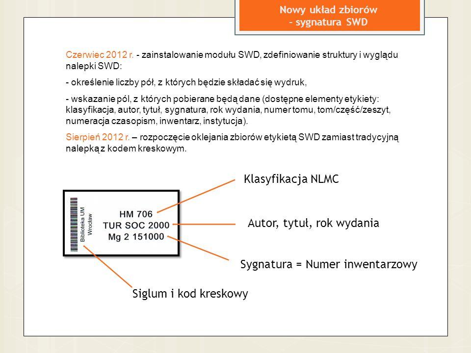 Nowy układ zbiorów - sygnatura SWD