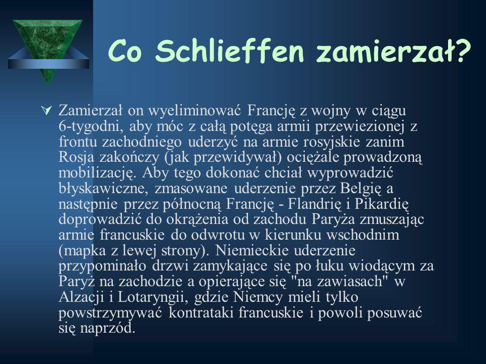 Co Schlieffen zamierzał