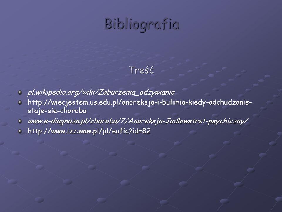 Bibliografia Treść pl.wikipedia.org/wiki/Zaburzenia_odżywiania