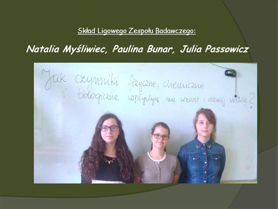 Natalia Myśliwiec, Paulina Bunar, Julia Passowicz