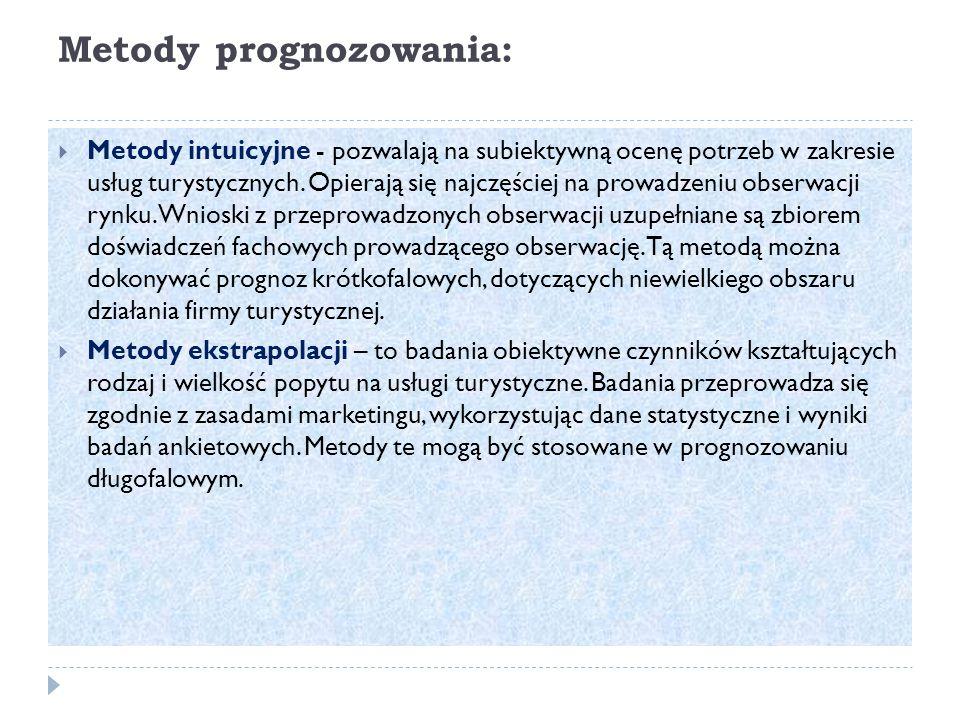 Metody prognozowania: