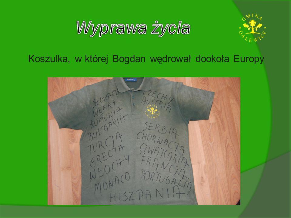Koszulka, w której Bogdan wędrował dookoła Europy