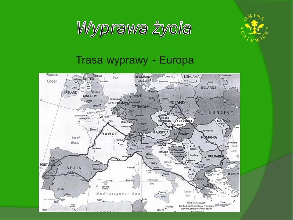 Wyprawa życia Trasa wyprawy - Europa