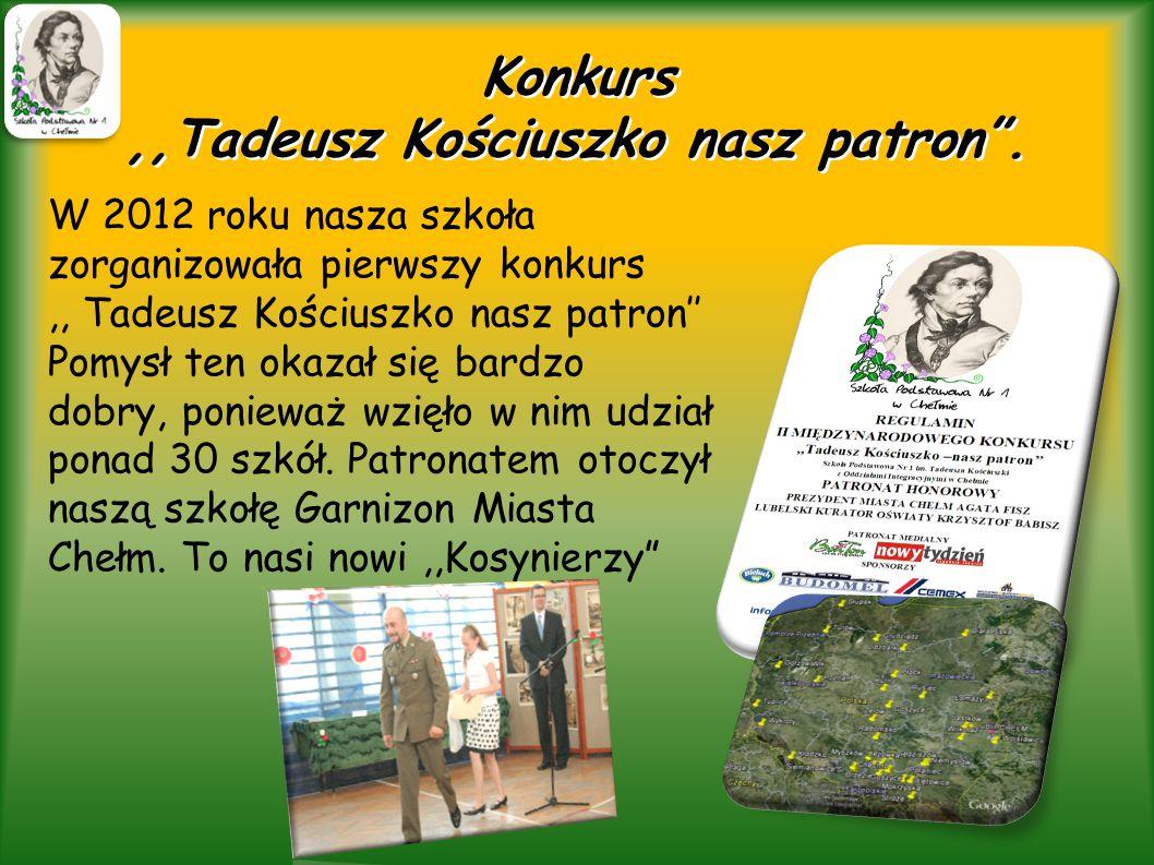 Konkurs ,,Tadeusz Kościuszko nasz patron .