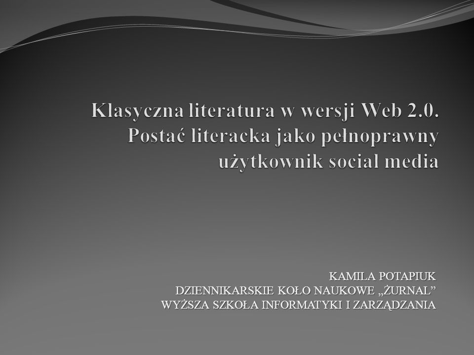 Klasyczna literatura w wersji Web 2