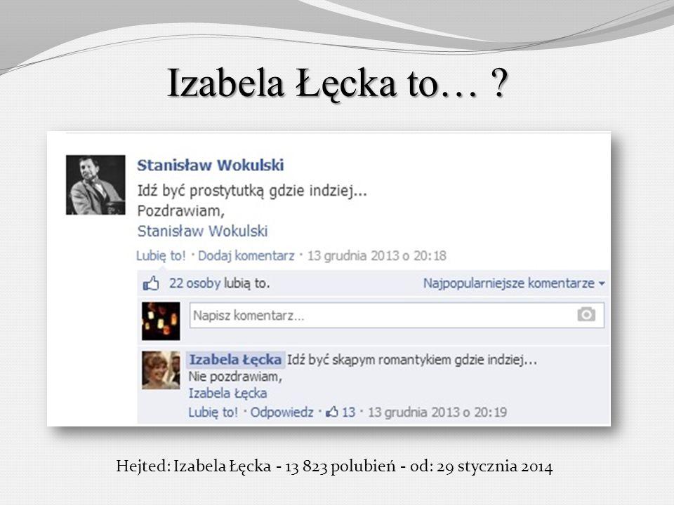 Hejted: Izabela Łęcka - 13 823 polubień - od: 29 stycznia 2014