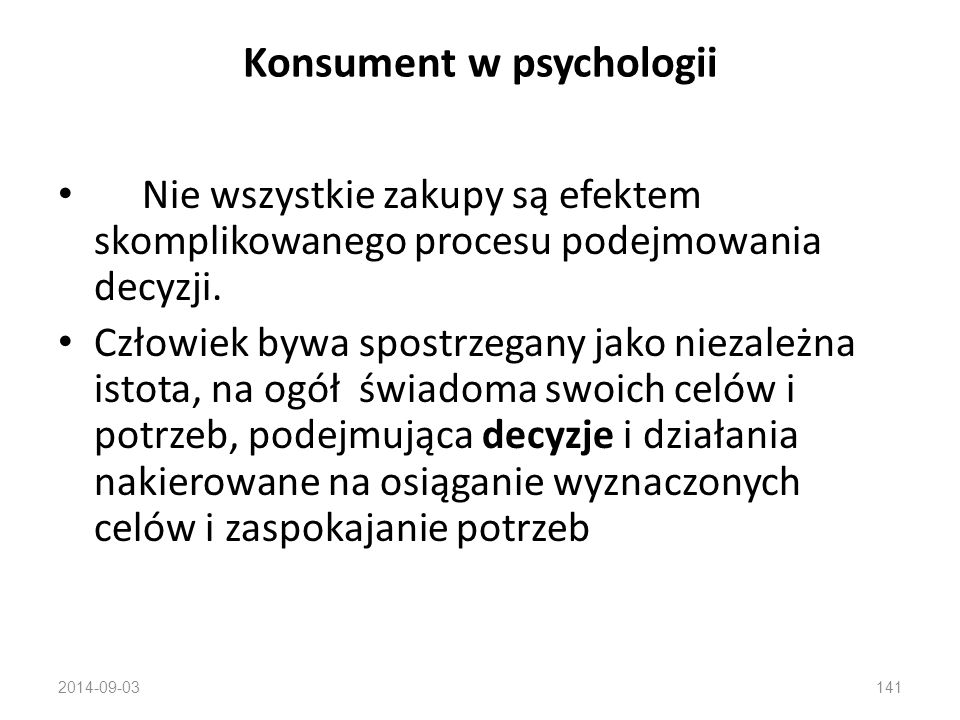 Konsument w psychologii