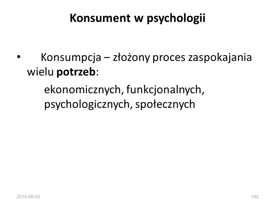 Konsument w psychologii