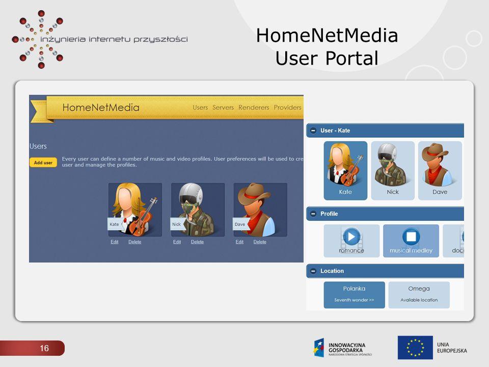HomeNetMedia User Portal