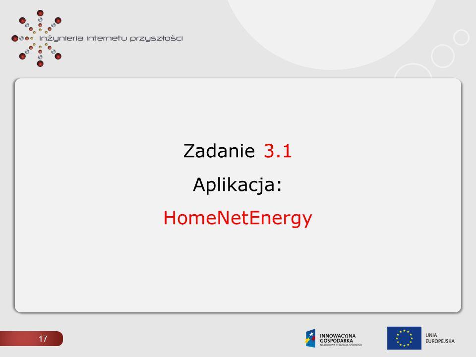 Zadanie 3.1 Aplikacja: HomeNetEnergy