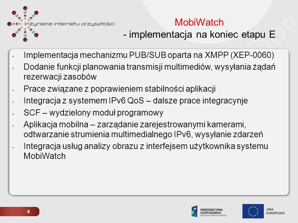 MobiWatch - implementacja na koniec etapu E