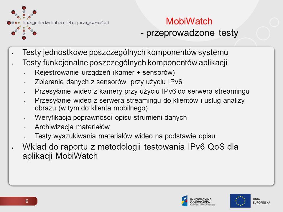 MobiWatch - przeprowadzone testy