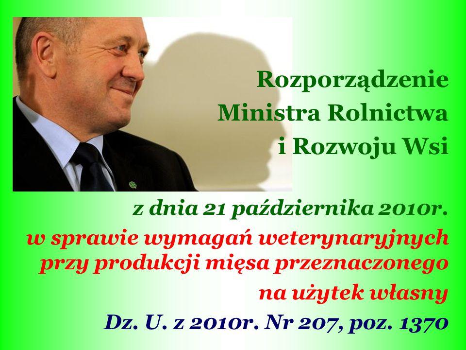Rozporządzenie Ministra Rolnictwa i Rozwoju Wsi