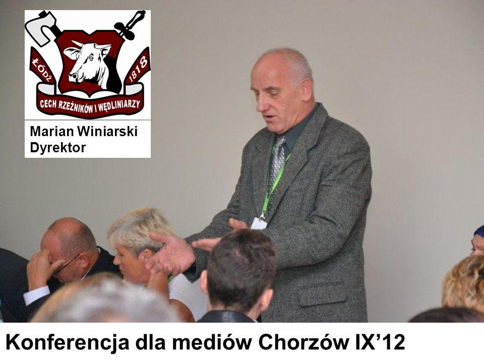 Konferencja dla mediów Chorzów IX'12