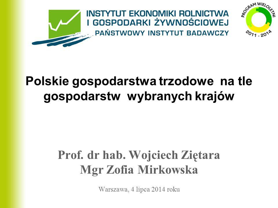 Polskie gospodarstwa trzodowe na tle gospodarstw wybranych krajów