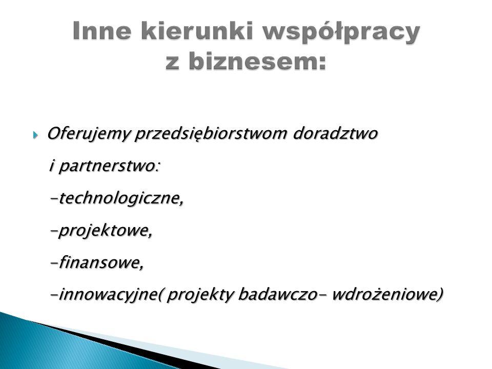 Inne kierunki współpracy z biznesem: