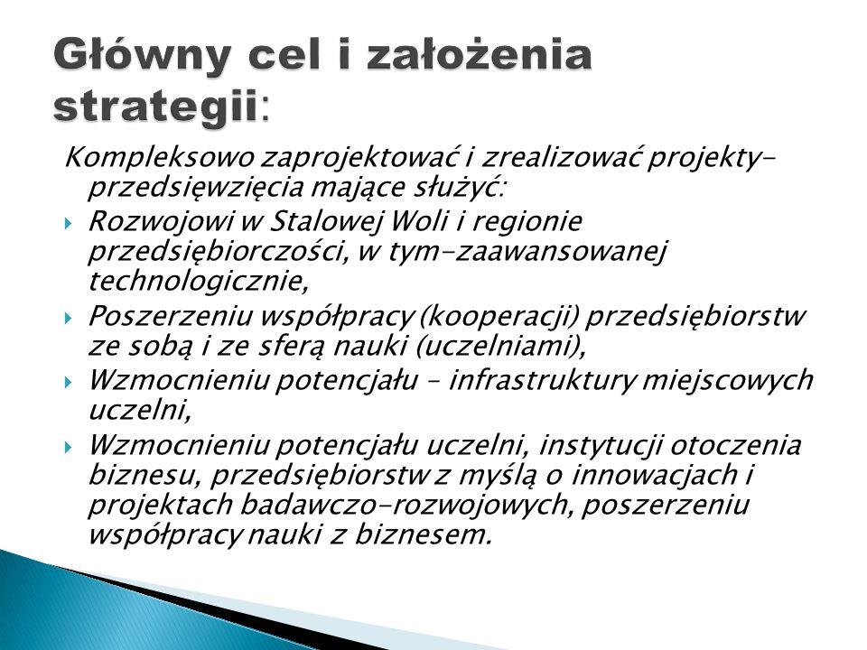 Główny cel i założenia strategii: