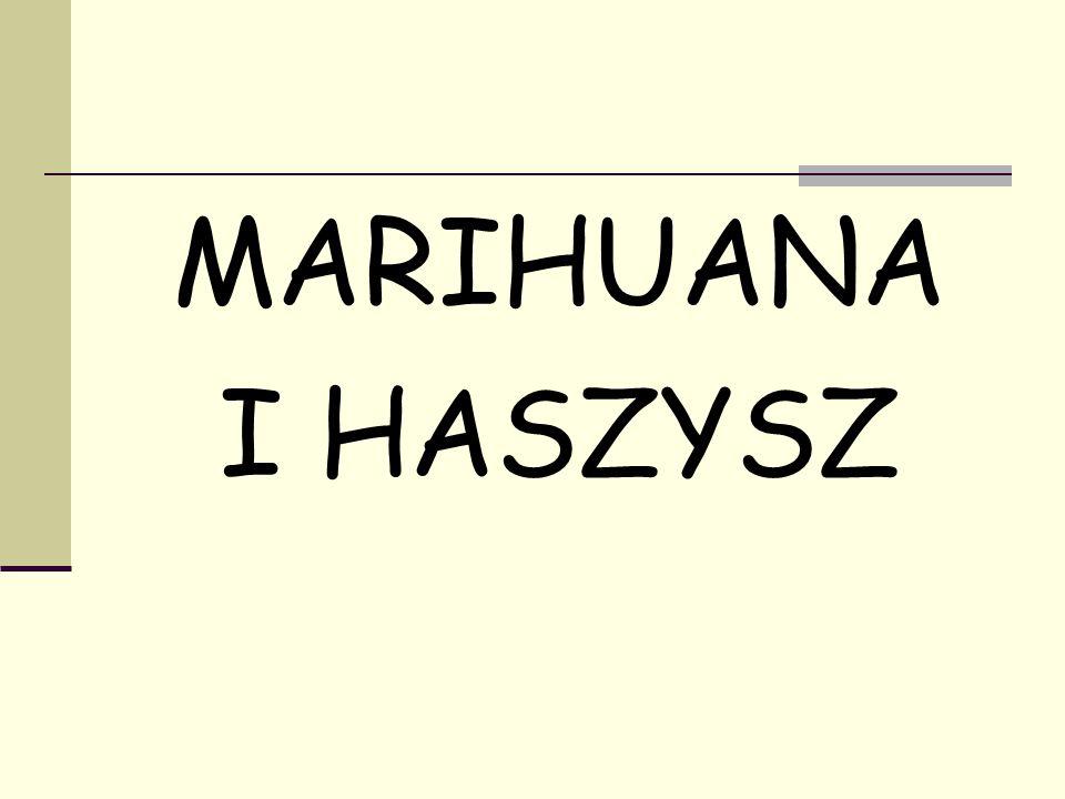 MARIHUANA I HASZYSZ