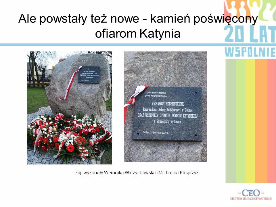 Ale powstały też nowe - kamień poświęcony ofiarom Katynia