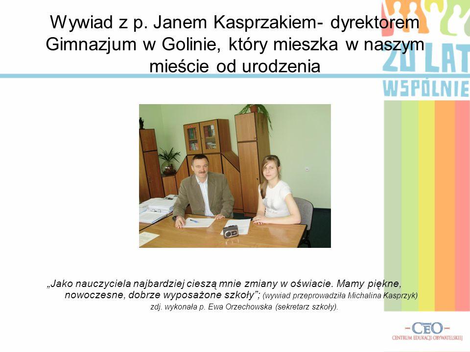 zdj. wykonała p. Ewa Orzechowska (sekretarz szkoły).