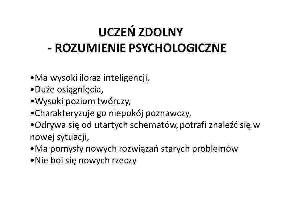 - ROZUMIENIE PSYCHOLOGICZNE