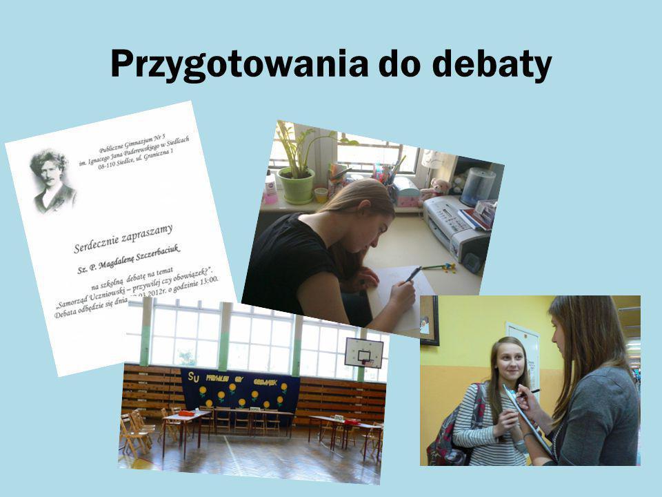 Przygotowania do debaty