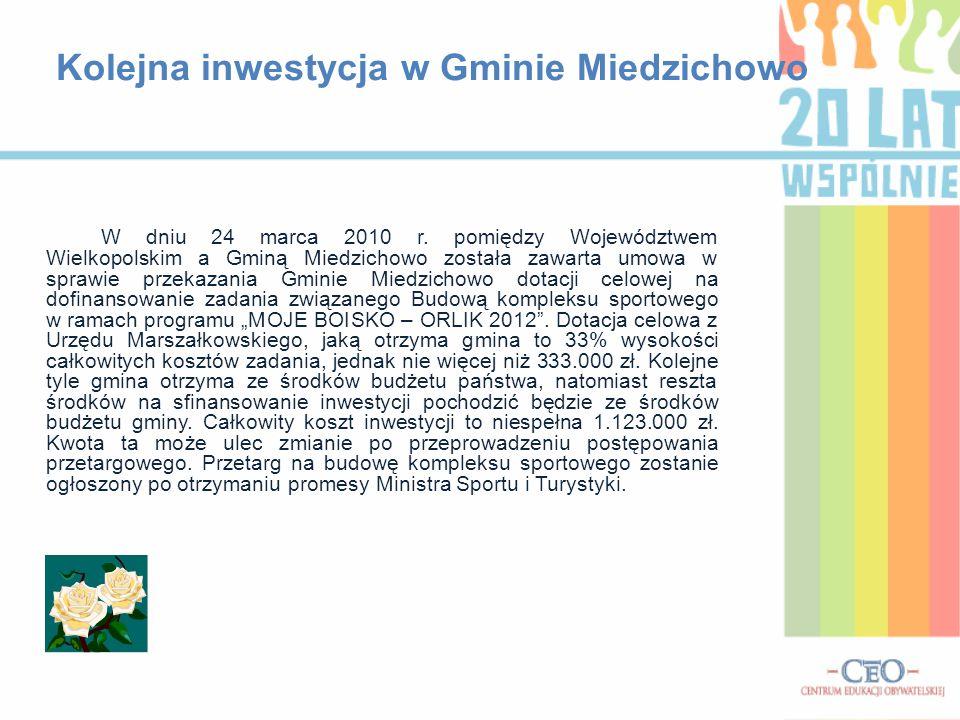 Kolejna inwestycja w Gminie Miedzichowo