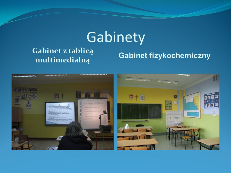 Gabinet z tablicą multimedialną