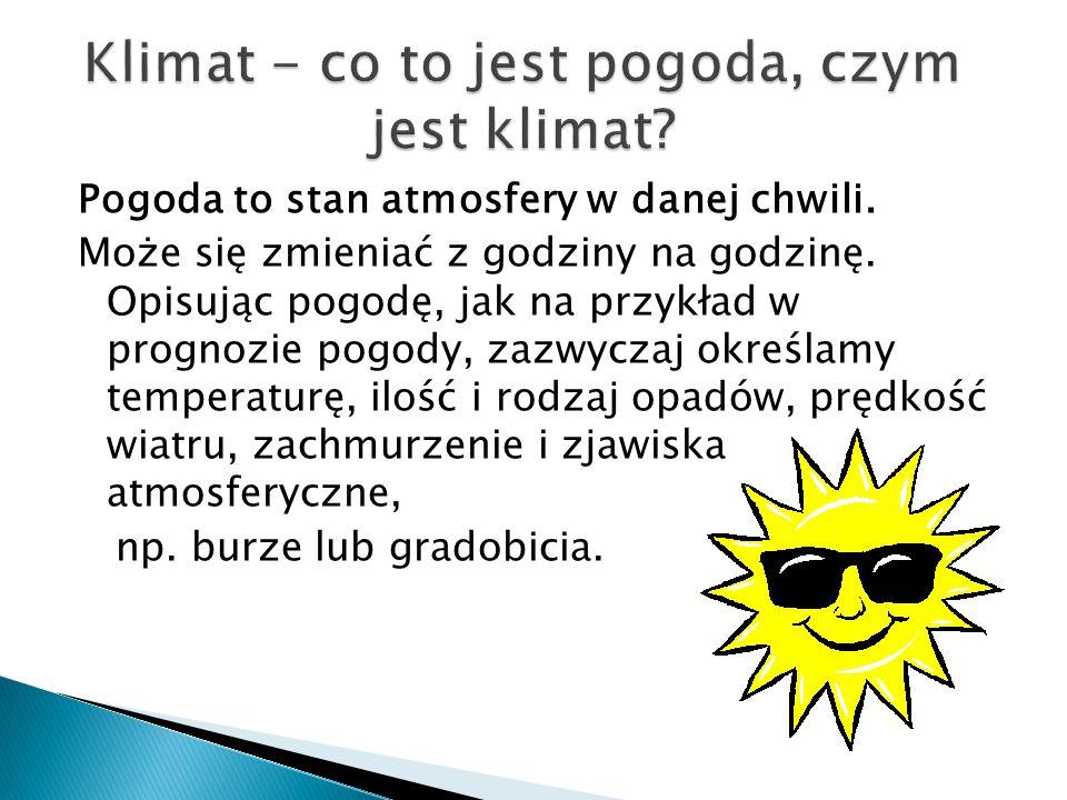 Klimat - co to jest pogoda, czym jest klimat