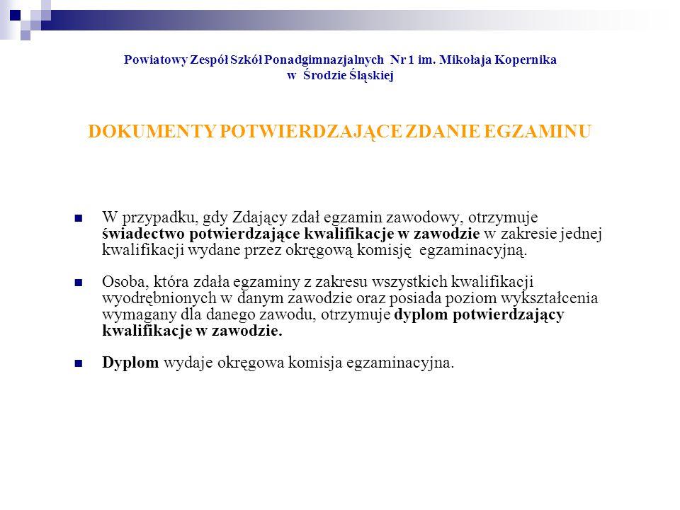 Dyplom wydaje okręgowa komisja egzaminacyjna.