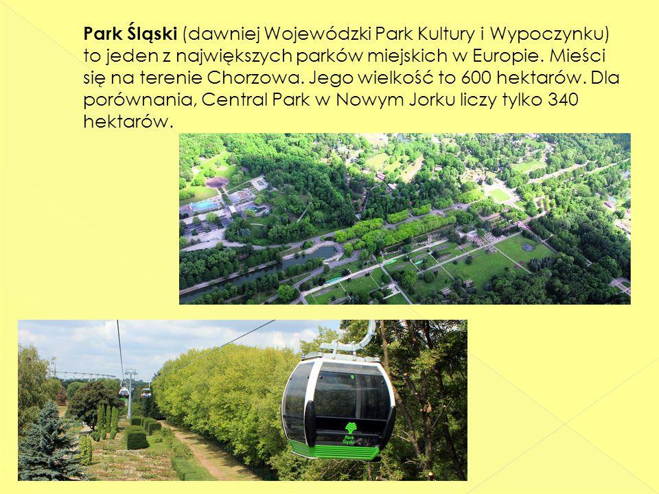 Park Śląski (dawniej Wojewódzki Park Kultury i Wypoczynku) to jeden z największych parków miejskich w Europie.
