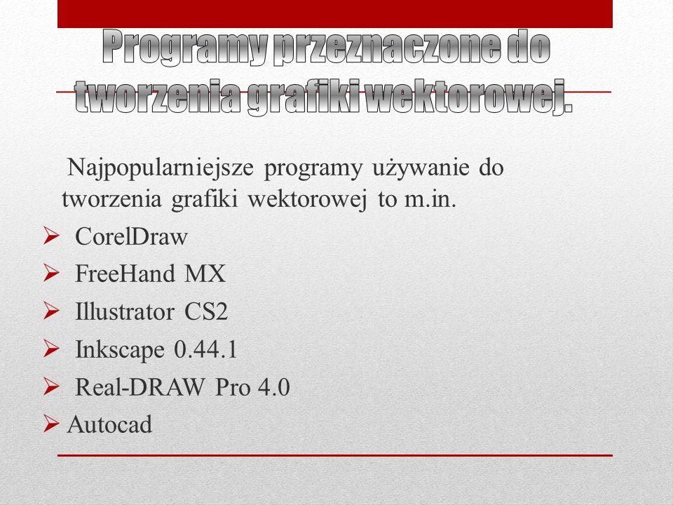 Programy przeznaczone do tworzenia grafiki wektorowej.